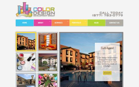Screenshot of Home Page colordesignllc.com - Color Design Development Group LLC | Certified Architectural Color Consultants for Multifamily, Commercial - captured Oct. 3, 2014