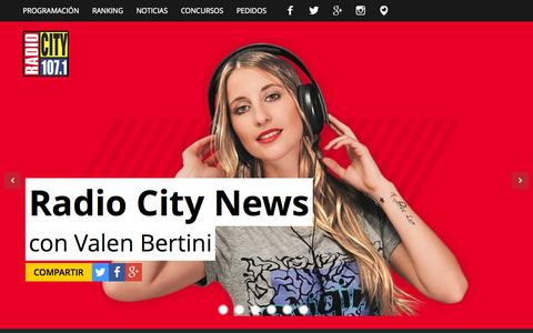 Screenshot of Home Page radiocityfm.com - Radio City FM 107.1 Jujuy - captured Sept. 5, 2015