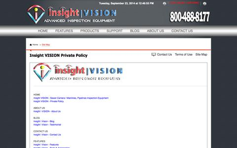 Screenshot of Site Map Page insightvisioncameras.com - Site Map | Insight VISION Cameras - captured Sept. 23, 2014