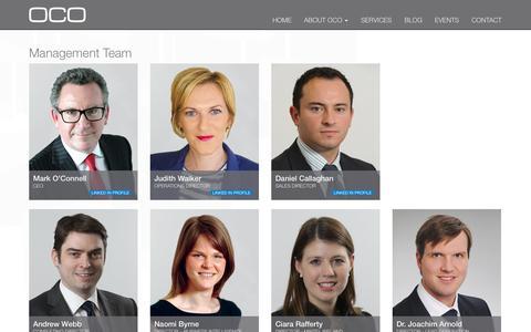 Screenshot of Team Page ocoglobal.com - OCO | Senior Management Team - captured Oct. 27, 2014