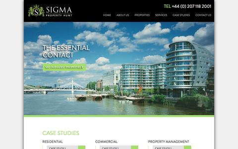 Screenshot of Case Studies Page sigmapropertyhunt.com - Sigma Property Hunt - captured Oct. 20, 2017