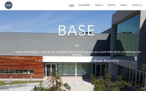 Screenshot of Home Page base-ae.com - BASE - captured July 19, 2016