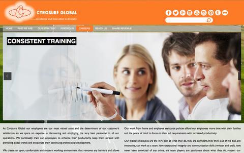 Screenshot of Jobs Page cyrosureglobal.com - Careers   Cyrosure Global - captured Oct. 27, 2014