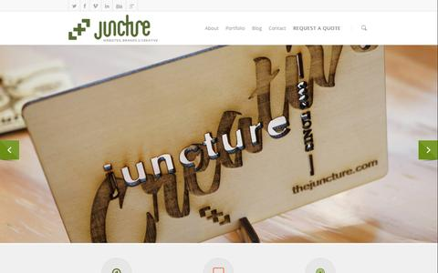 Screenshot of Home Page thejuncture.com - Juncture LLC - captured Oct. 6, 2014