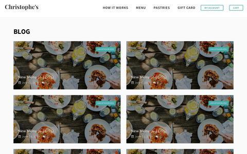 Screenshot of Blog christophestogo.com - Best Food Blog in Atlanta - foodie tips, recipes, & more - captured July 17, 2018