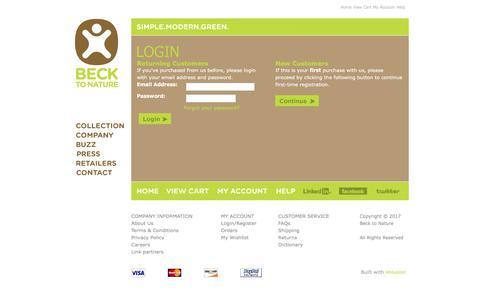 Screenshot of Login Page cocomattress.com - Login - captured Oct. 10, 2017
