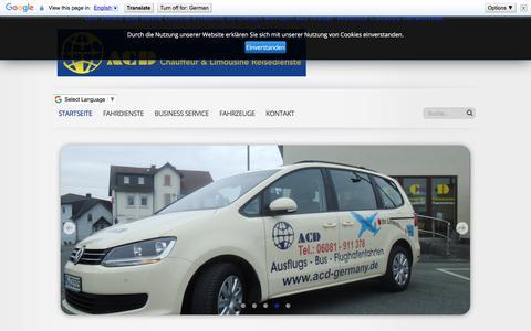 Screenshot of Home Page acd-germany.de - Startseite - ACD Chauffeur & Limousine Reisedienste - captured June 10, 2018