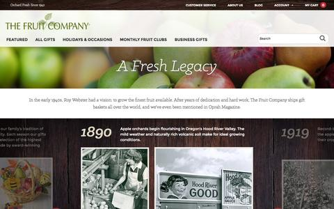 Screenshot of About Page thefruitcompany.com - The Fruit Company® | Fruit & Fruit Gift Baskets Delivered  | The Fruit Company - captured Oct. 26, 2014