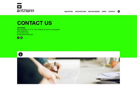 Screenshot of Contact Page anthonn.dk - contact us - anthonn - captured Sept. 30, 2014
