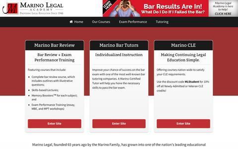 Screenshot of Home Page marinolegal.com captured Nov. 27, 2016