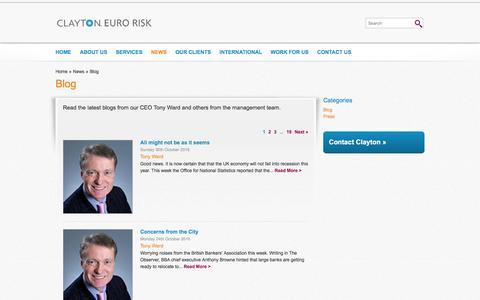 Screenshot of Blog claytonerm.com - Latest Blog | Clayton Euro Risk ManagementClayton Euro Risk - captured Nov. 6, 2016