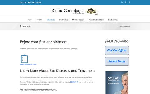 Patient Info | Retina Consultants of Charleston