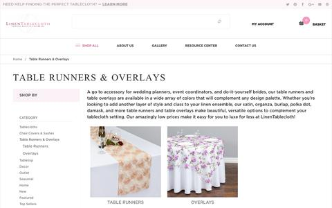 Table Runners & Overlays: Linen Tablecloth