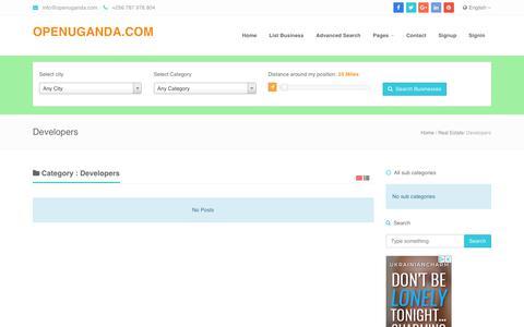 Screenshot of Developers Page openuganda.com - Open Uganda Business Directory - WWW.OPENUGANDA.COM        | Business listed under Developers - captured Oct. 18, 2018
