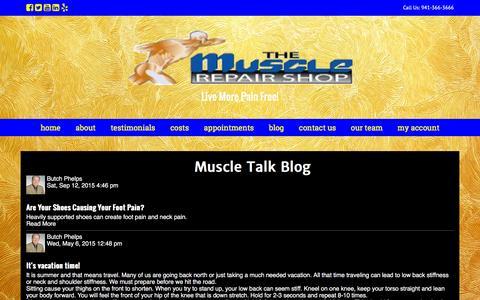 Screenshot of Blog musclerepairshop.com - Muscle Talk - captured Feb. 15, 2016