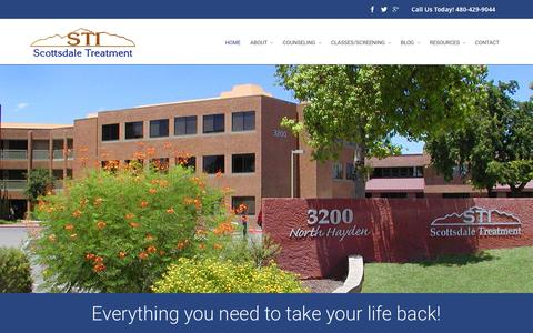 Screenshot of Home Page scottsdaletreatment.com - Scottsdale Treatment | Non-judgmental Help for Alcoholism & Drug Addiction | Non-judgmental Help for Alcoholism & Drug Addiction | Non-judgmental Help for Alcoholism & Drug Addiction - captured Sept. 11, 2015