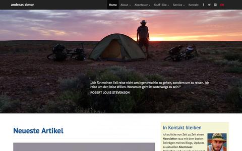 Screenshot of Home Page simon-adventures.com - Andreas Simon - Abenteuer und Expeditionen - captured Sept. 19, 2014
