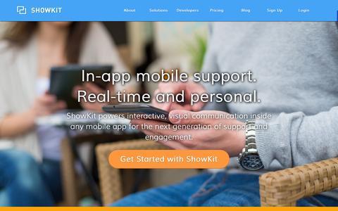 Screenshot of Home Page showkit.com - ShowKit - captured Oct. 10, 2014