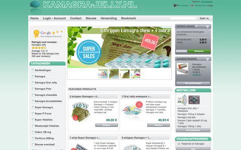 Screenshot of Home Page kamagra-jelly.nl - KAMAGRA-JELLY.NL | Al 8 jaar Nr.1 |Kamagra bestellen | Goedkope kamagra bestellen. Goedkoopste kamagra kopen. - Kamagra Jelly - captured Sept. 23, 2014