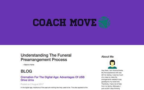 Screenshot of Blog coach-move.com - blog - Understanding The Funeral Prearrangement Process - captured Aug. 6, 2017
