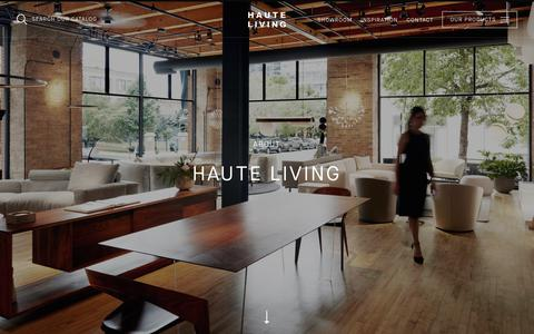 Screenshot of About Page haute-living.com - About Haute Living, the Go-To Resource For    Haute Living - captured July 17, 2018