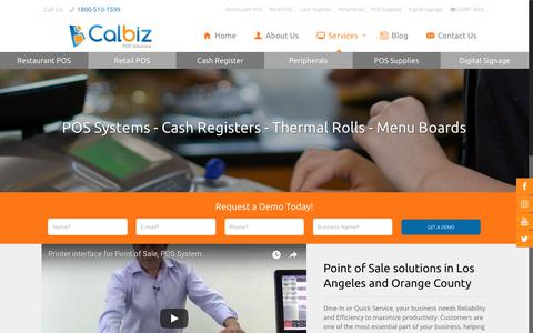 Screenshot of Services Page calbiz.com - POS System for Sale and Cash Register Programming in Los Angeles - captured Sept. 26, 2018