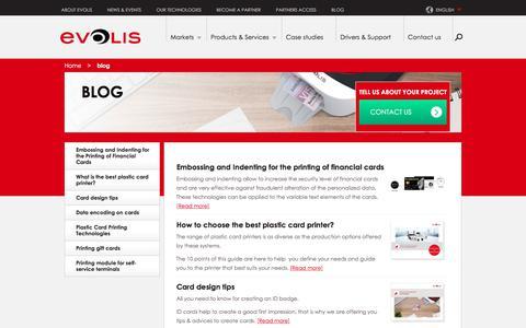 Screenshot of Blog evolis.com - blog | Evolis - captured July 21, 2018