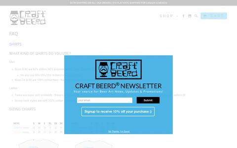 Screenshot of FAQ Page craftbeerd.com - FAQ - captured July 17, 2016