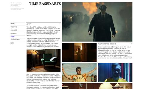 Screenshot of About Page time-based-arts.com - About | Time Based Arts - captured May 30, 2016