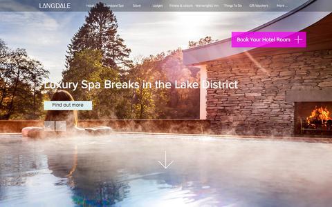 Screenshot of Home Page langdale.co.uk - Lake District Hotels   4 Star Langdale Hotel & Spa - SAVE 15% on rooms - captured Sept. 22, 2018