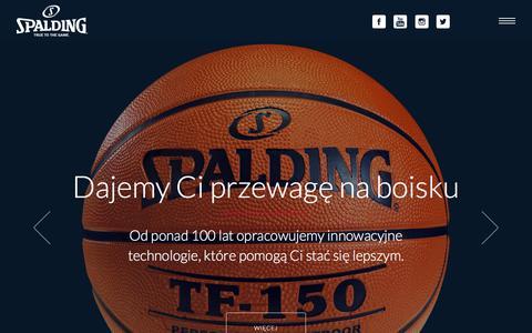 Screenshot of Home Page spalding.pl - Spalding | Doświadcz prawdziwej gry - captured Feb. 15, 2016