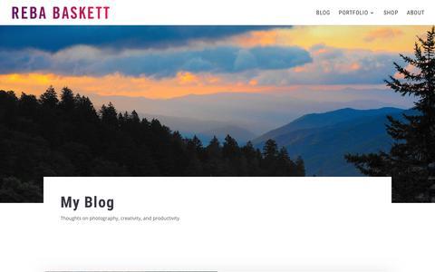 Screenshot of Blog rebabaskett.com - Photography & Travel Notes - Reba Baskett - captured Nov. 12, 2017