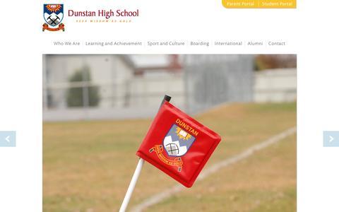 Screenshot of Home Page dunstan.school.nz - Home   Dunstan High School - captured June 15, 2016