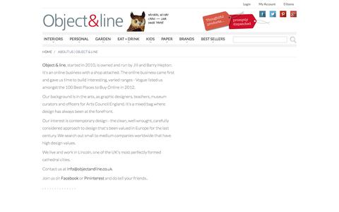 Screenshot of About Page objectandline.co.uk - About Us   Object & line - captured Oct. 7, 2014