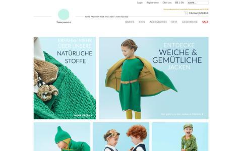 Screenshot of Home Page macarons-shop.com - Start - captured Nov. 13, 2015