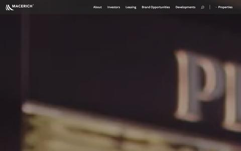 Screenshot of Home Page macerich.com - Macerich   Home - captured Dec. 14, 2015