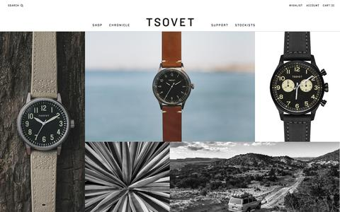Screenshot of Contact Page tsovet.com - TSOVET : We're passionate about designing and building watches. - captured Nov. 1, 2014