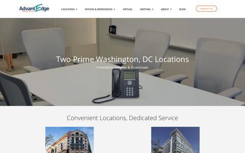 Office Locations ‐ Washington DC Flexible Workspaces | AdvantEdge