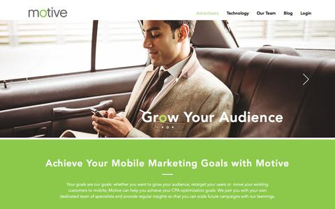 Screenshot of Team Page motiveinteractive.com - Motve | Advertisers | Programmatic Performance Advertising - captured April 26, 2018