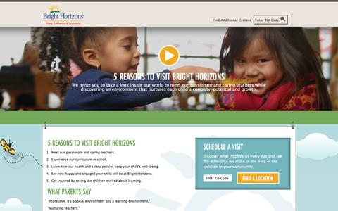 Screenshot of Landing Page brighthorizons.com - Bright Horizons®   Child Care, Back-Up Care, Early Education, and Work/Life Solutions - captured Dec. 21, 2016