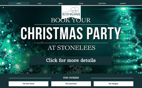 Screenshot of Home Page stonelees.com - Stonelees | Best golf facilities in Kent | Golf, Driving Range, Shop, Eat & Drink - captured Dec. 2, 2016
