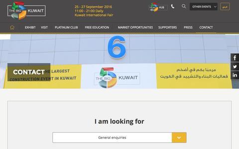 Screenshot of Team Page big5kuwait.com - CONTACT - The Big 5 Kuwait - captured May 27, 2016