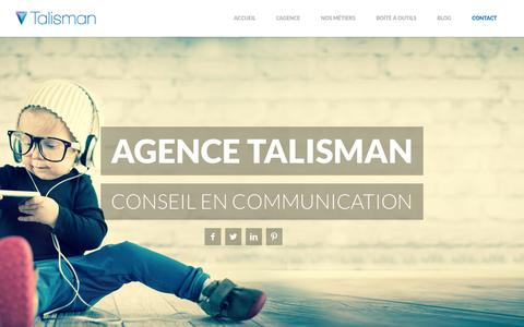 Screenshot of Home Page agence-talisman.com - Agence Talisman - captured Sept. 26, 2014