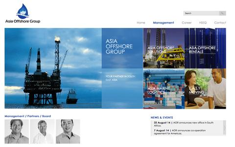 Screenshot of Team Page asia-offshore.sg - Management / Partners / Board | Asia Offshore Group - captured Nov. 2, 2014