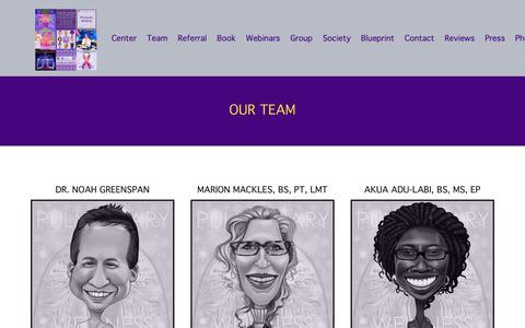 Screenshot of Team Page pulmonarywellness.com - Pulmonary Wellness - captured Sept. 30, 2018