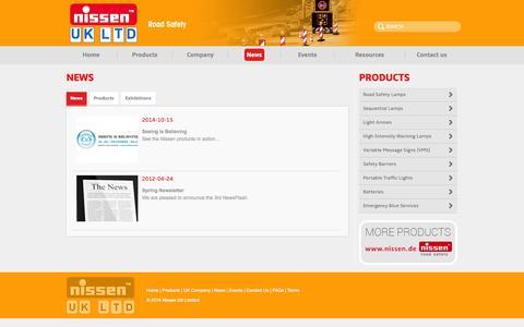 Screenshot of Press Page nissen-uk.com - Nissen - Road Safety - captured Oct. 26, 2014