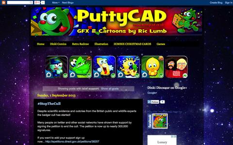 Screenshot of Support Page puttycad.blogspot.com - Putty CAD: support - captured Sept. 30, 2014