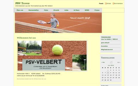 Screenshot of Home Page psv-tennis.de - PSV Tennis - captured June 8, 2016