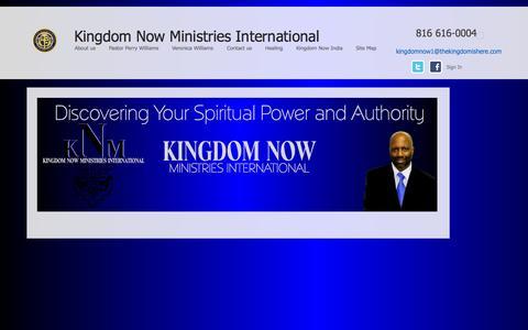Screenshot of Home Page thekingdomishere.com - Kingdom Now Ministries - captured Oct. 6, 2014