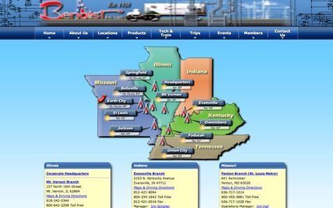 Screenshot of Locations Page benoist.com - Locations | benoist.com | benoist.com - captured Oct. 5, 2014